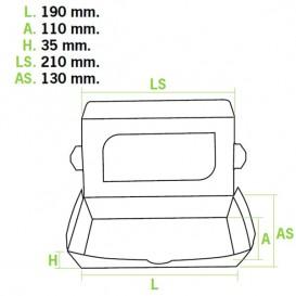 "Papieren take-out Container ""Premium"" 21x13x3,5cm 730ml (300 stuks)"