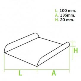 Papieren dienblad voor wafel wit 13,5x10cm (1500 stuks)