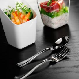 Plastic mini vork gemetalliseerd 10cm (1000 stuks)