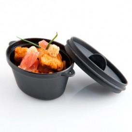 Bol Degustacion Negro con Tapa 9,1 x 5,8cm (216 Uds)
