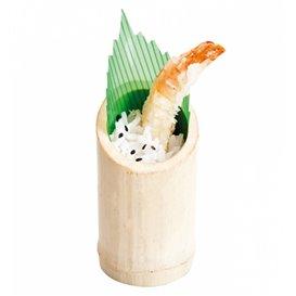 Bamboe proeving beker Truncated 5x9cm (200 stuks)