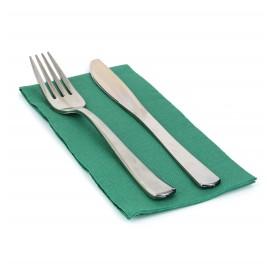 Papieren servet dubbel punt groen 1/8 40x40cm (50 stuks)