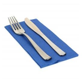 Papieren servet dubbel punt blauw 1/8 40x40cm (50 stuks)