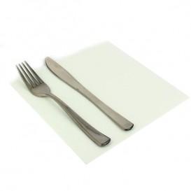 Papieren servet dubbel punt wit 40x40cm (50 stuks)