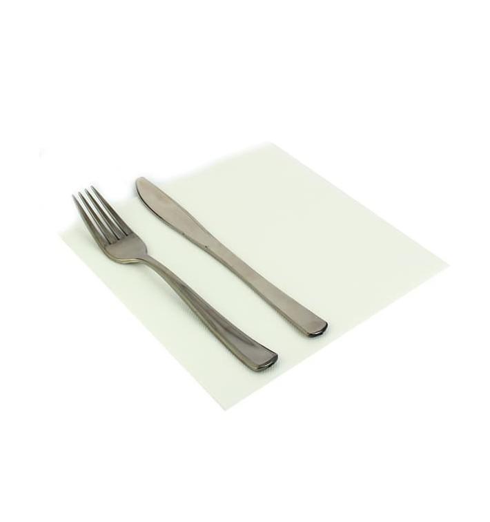 Papieren servet dubbel punt wit 40x40cm (1.200 stuks)