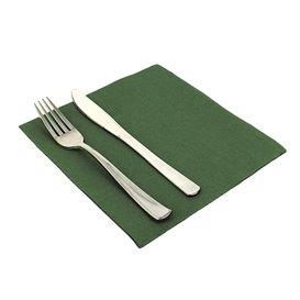 Papieren servet dubbel punt groen 40x40cm (50 stuks)
