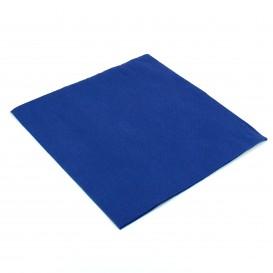 Papieren servet dubbel punt blauw 40x40cm (1.200 stuks)