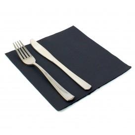 Papieren servet dubbel punt zwart 40x40cm (50 stuks)