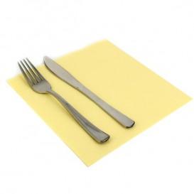 Papieren servet dubbel punt crème 40x40cm (50 stuks)