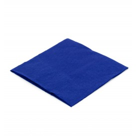 Papieren servet blauw 20x20cm (100 stuks)