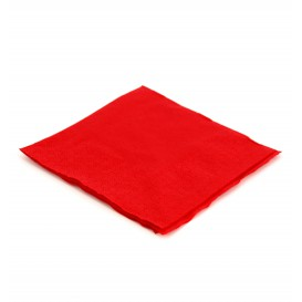 Papieren servet rood 20x20cm (100 stuks)