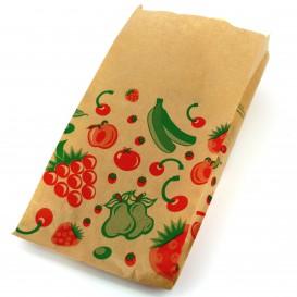 Papieren voedsel zak Fruit Design 14+7x28cm (100 stuks)