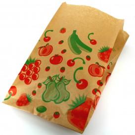 Papieren voedsel zak Fruit Design 22+12x36cm (100 stuks)